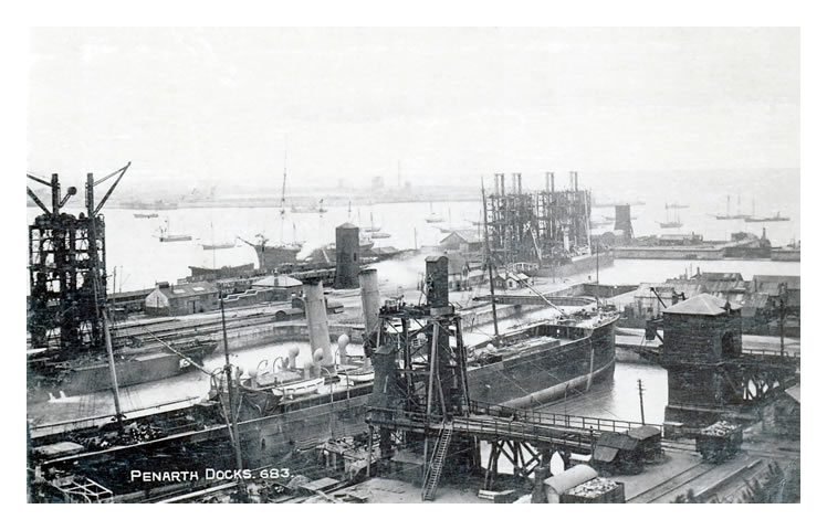 Penarth Dock and Basin c.1908