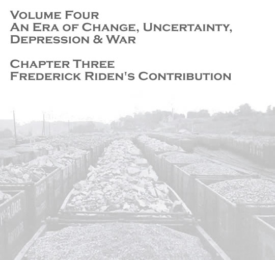 Penarth Dock - Volume Four - An Era of Change, Uncertainty, Depression & War - Frederick Riden's contribution . . .