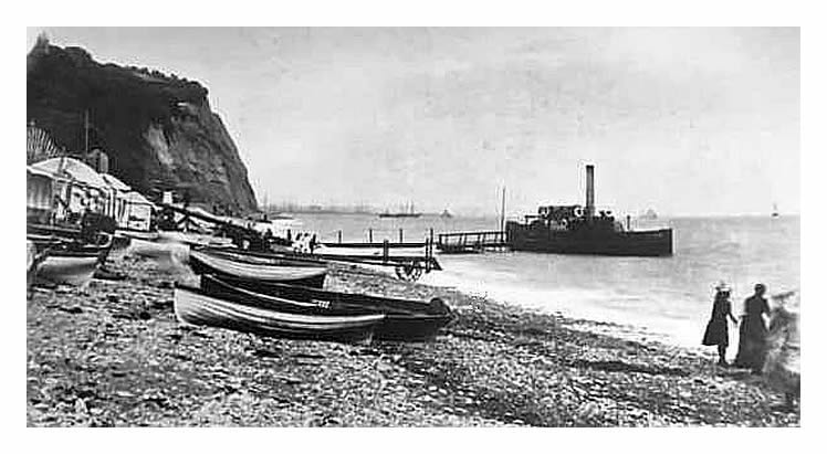 1883 - 86 - A view of the p.s. 'Kate' at the Kymin, Penarth Beach.