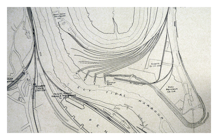 1960's - A section of a plan of the Penarth Dock and Ely Tidal Harbour.
