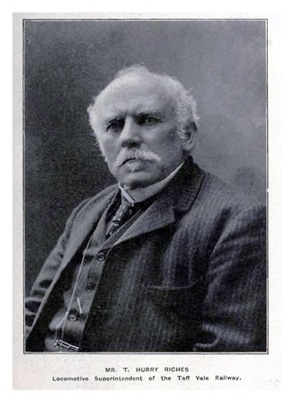 1908 - Thomas Hurry Riches, Locomotive, Carriage and Wagon Superintendent of the Taff Vale Company.