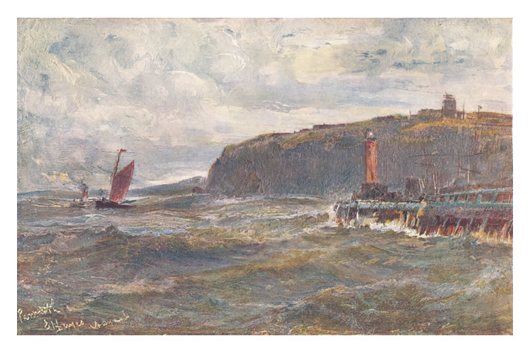 'Penarth : Entrance to Cardiff Harbour' - Edwin Hayes, R.I.