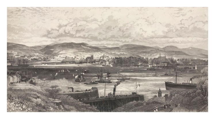 A. Duncan - Cardiff Docks from Penarth Head.