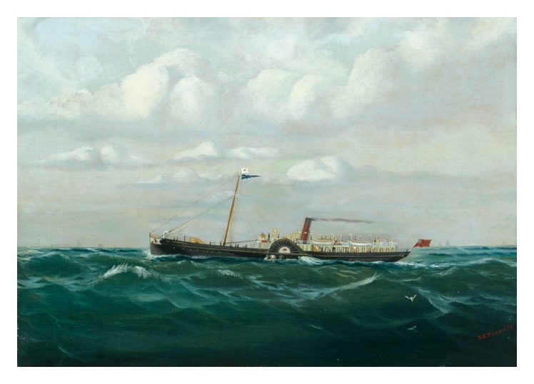 homas G. Purvis - Port view of the p.s. 'Marchioness' at sea.
