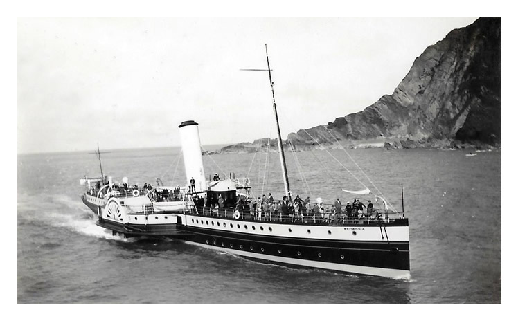 P.S. 'Britannia' on her way into Ilfracombe in the 1950's.