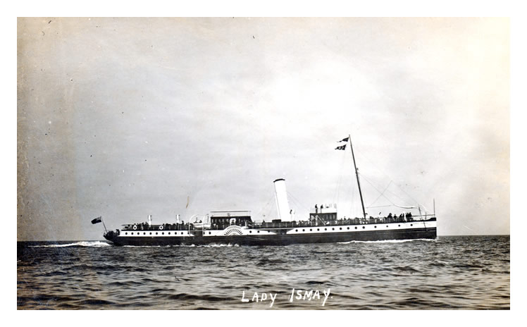 p.s. 'Lady Ismay' probably off Penarth Head since this a photograph published by George Wehrley of 97 Glebe Street, Penarth.