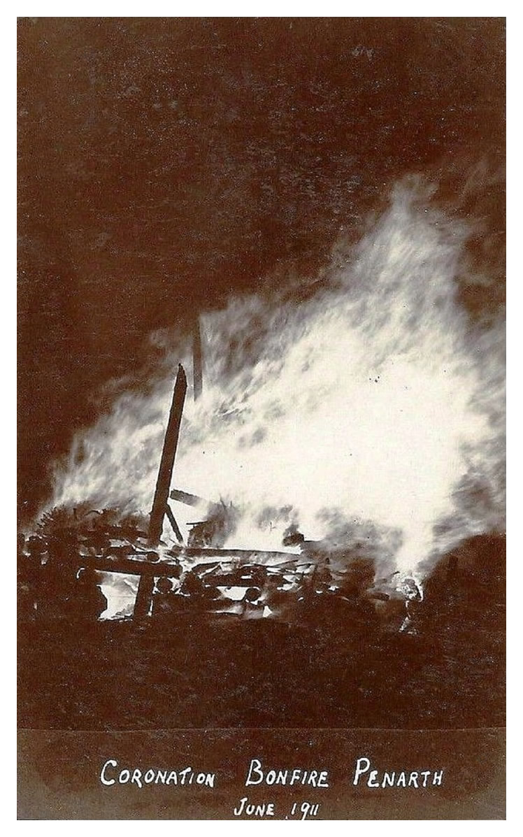 Coronation Bonfire, Penarth - June 1911.