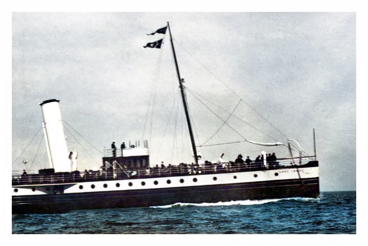 p.s. 'Lady Ismay' - probably off Penarth Head since this a photograph published by George Wehrley of 97 Glebe Street, Penarth.