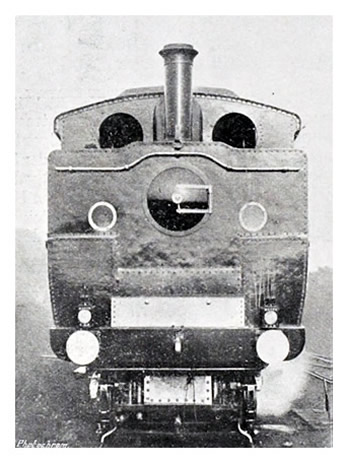 1904 - Front View of Engine of Taff Vale Railway's Steam Car.