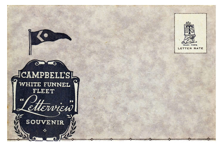 "A ""Letterview"" Souvenir published by Raphael Tuck & Sons Limited of Campbell's White Funnel Fleet."