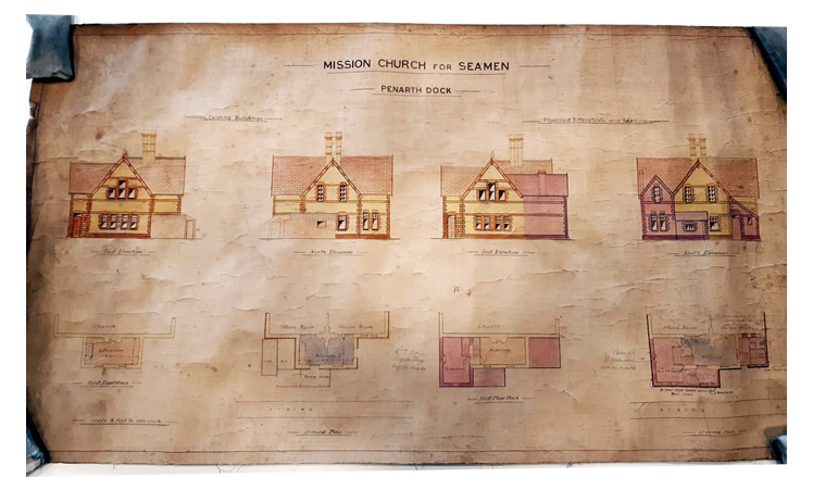 A Plan of Proposed Alterations to the Mission Church for Seamen at Penarth Dock.