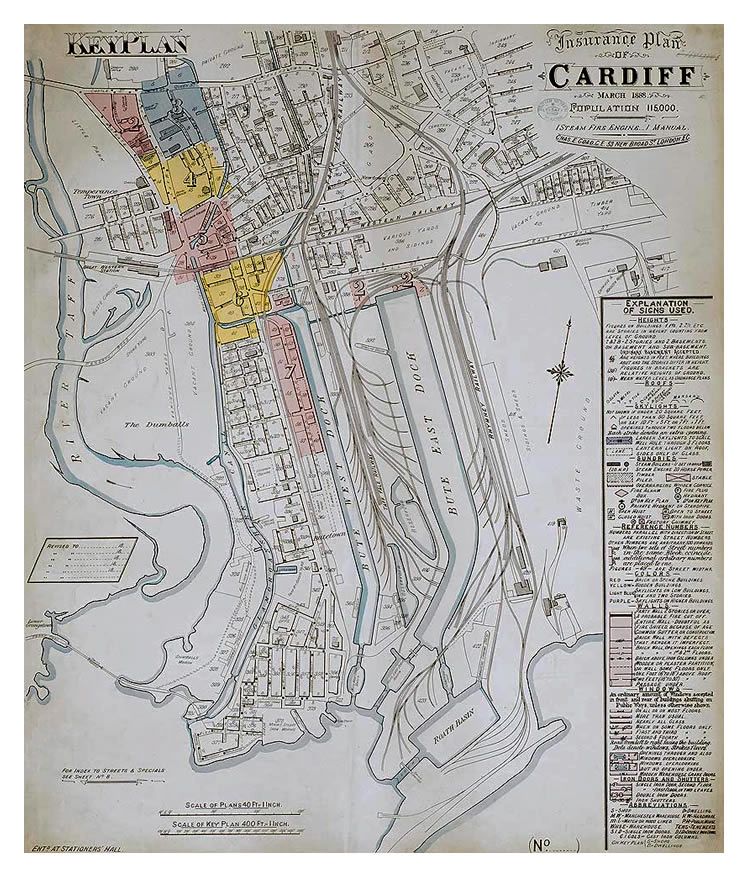 Insurance Plan of Cardiff - March 1888.