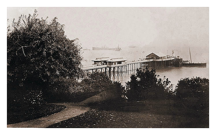 The Pier from Windsor Gardens, Penarth.